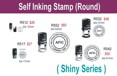 Self inking stamp (Round)