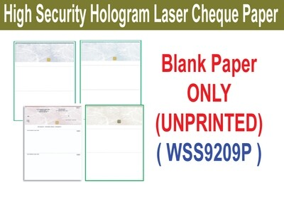 High Security Hologram Laser Cheque (Paper ONLY)