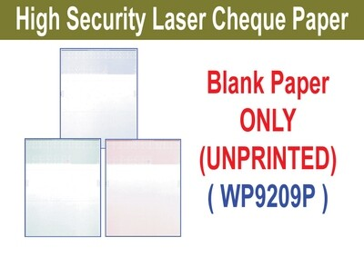 High Security Laser Cheque (Paper ONLY)