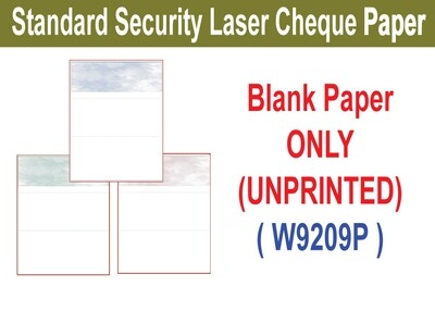 Standard Security Laser Cheque (Paper ONLY)