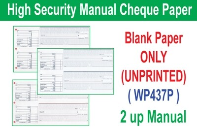 High Security Manual Cheque (Paper ONLY)