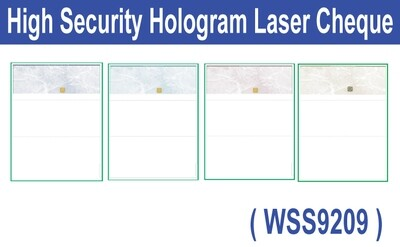 High Security Hologram Laser Cheque