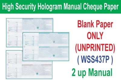 High Security Hologram Manual Cheque (Paper ONLY)