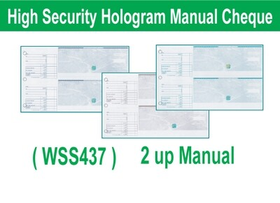 High Security Hologram Manual (Hand Written) Cheque