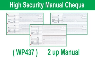 High Security Manual (Hand Written) Cheque