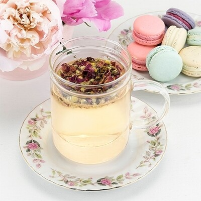 Pinky Up Glass Tea Mug