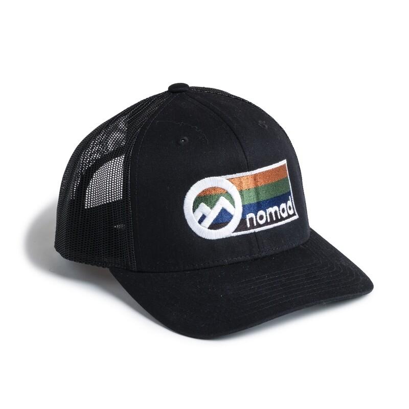 Nomad Black Mesh Hat w/ Color Logo