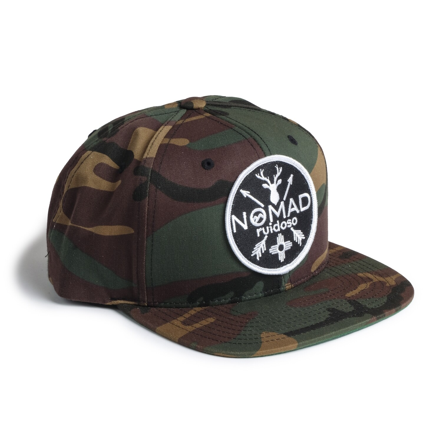 Nomad Camo Hat with Black Patch