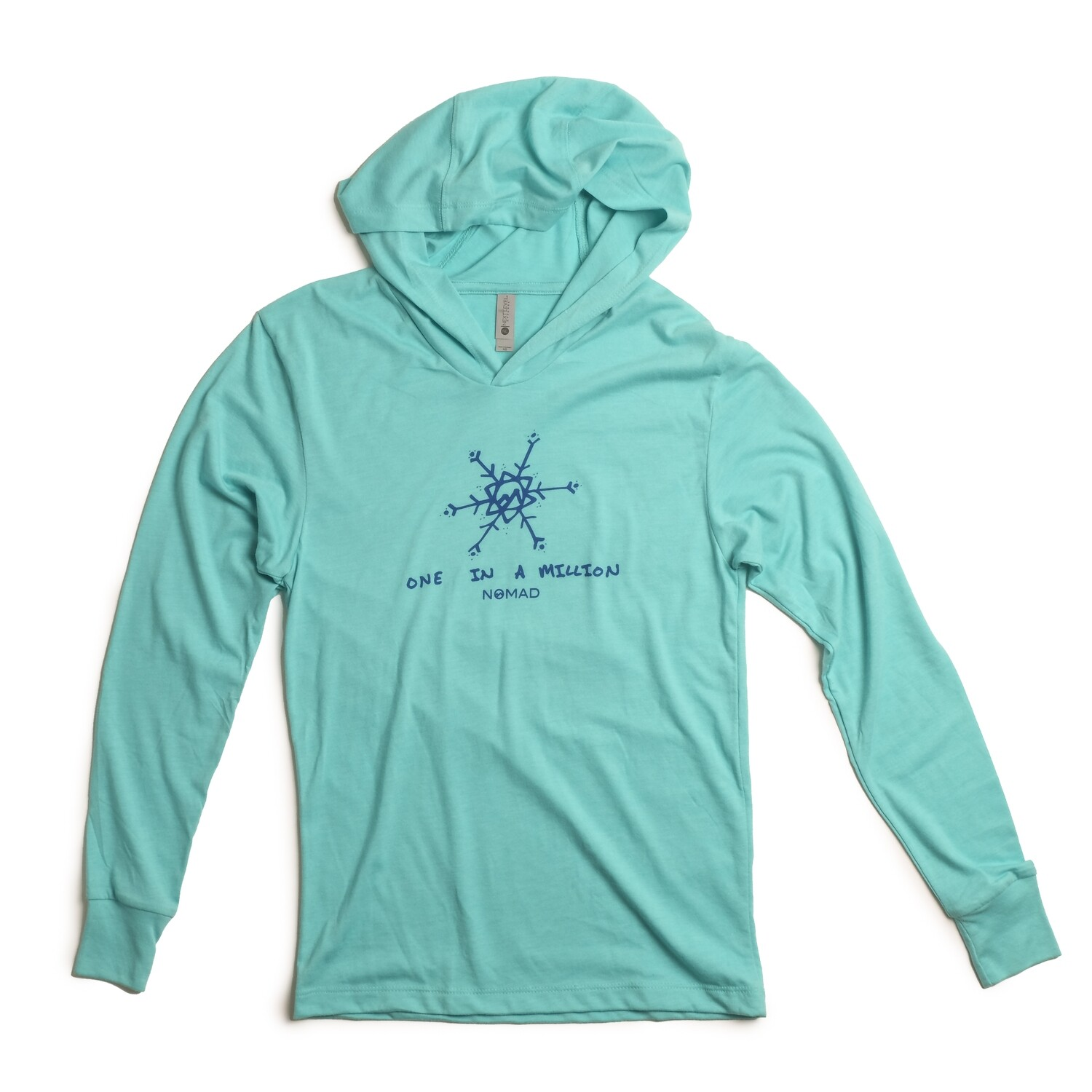 Nomad LS One In a Million Hooded T - Tahiti Blue