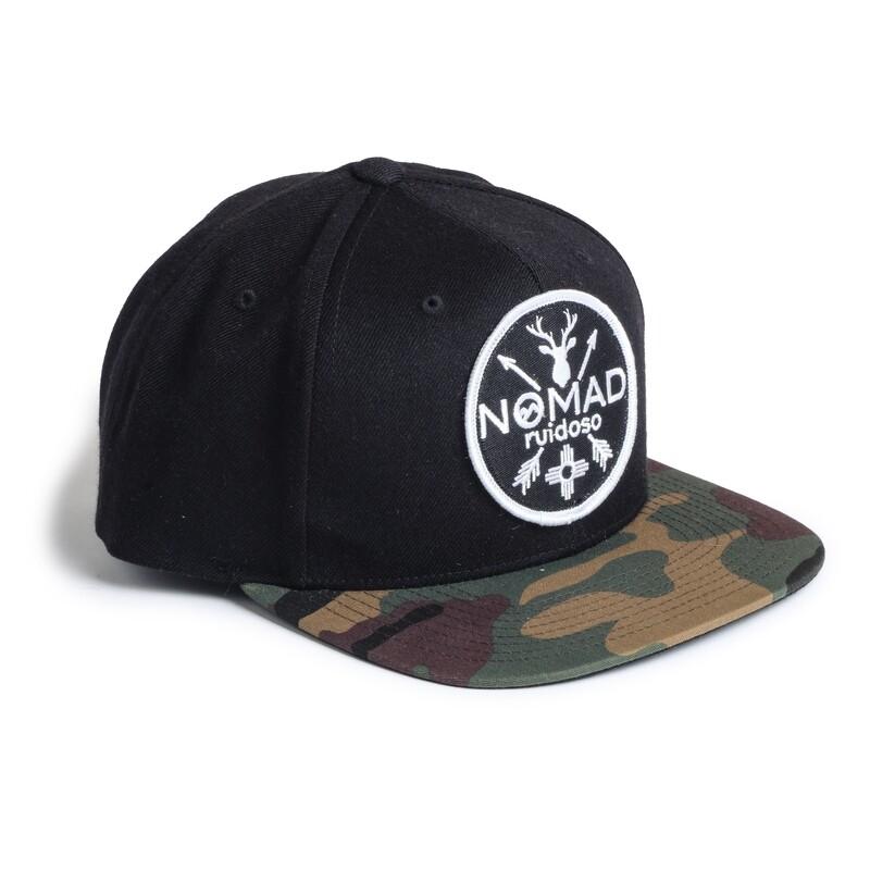 Nomad Black Hat/Camo Bill - BLK Patch