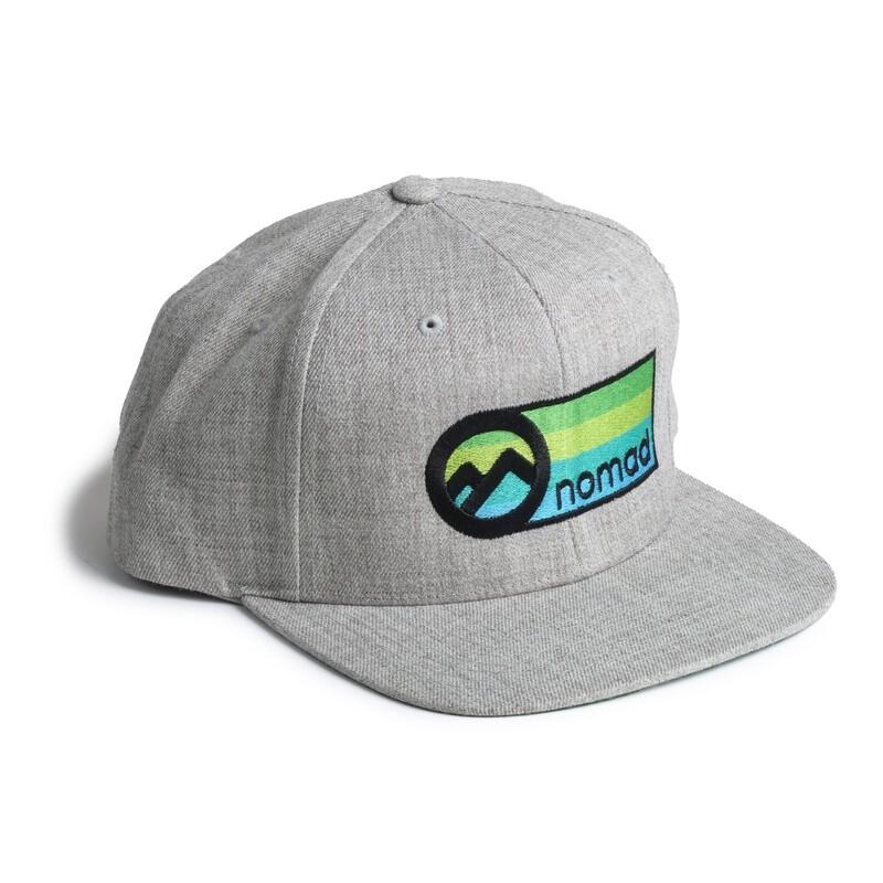 Nomad Grey Cloth Snapback - Color Logo