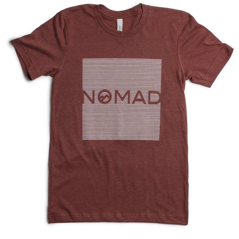Nomad SS Stripe Logo - Clay
