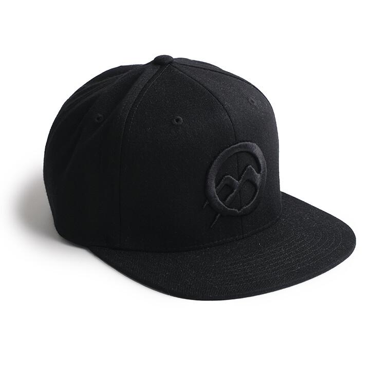 Nomad Flexfit Hat C50 - Rgh Logo - BLK on BLK