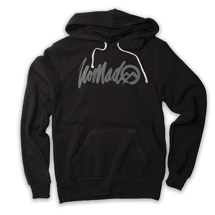 Nomad Hoodie w Rough Logo - Eco True Black
