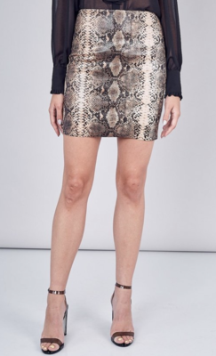 DO+BE: snakeskin skirt