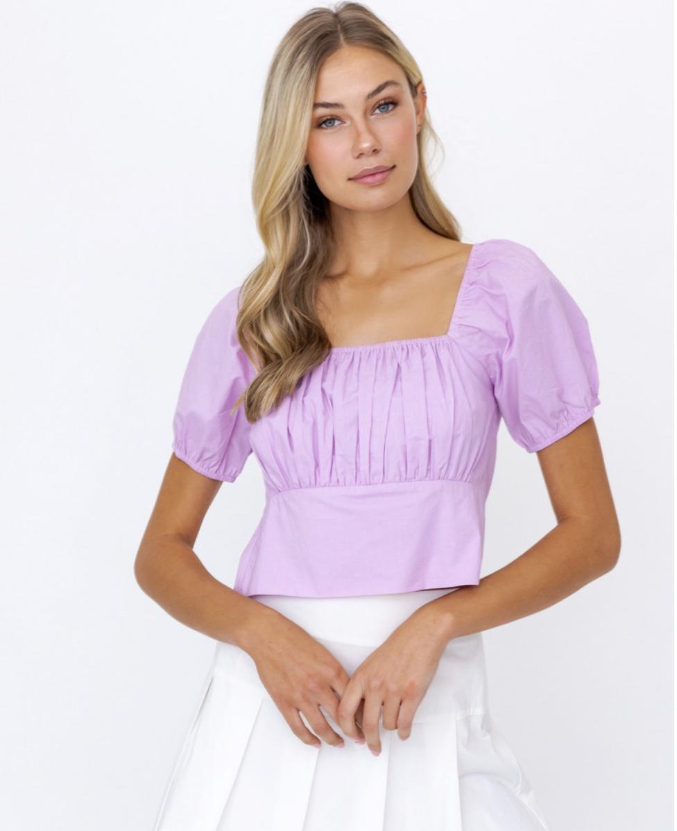 Lelis: Lilac Tied Back Top
