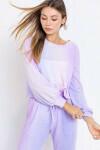 Lelis: Purple Long Sleeve Top