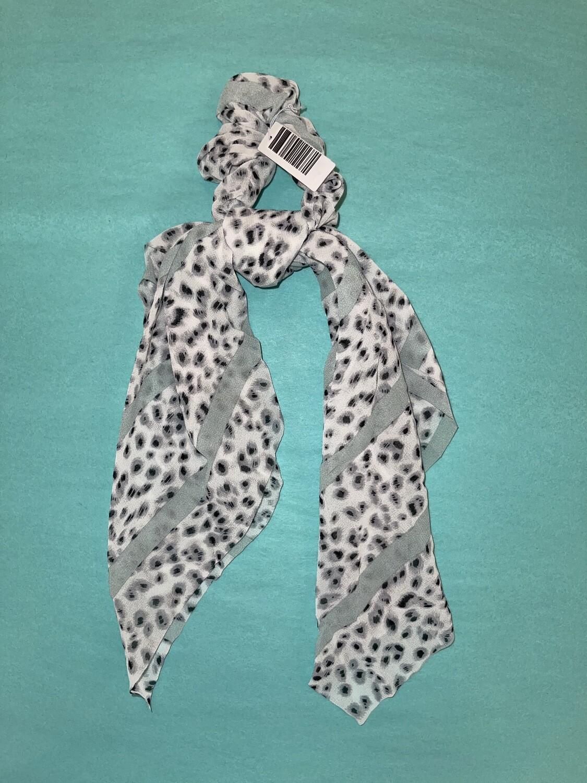 Leopard long tail scrunchie