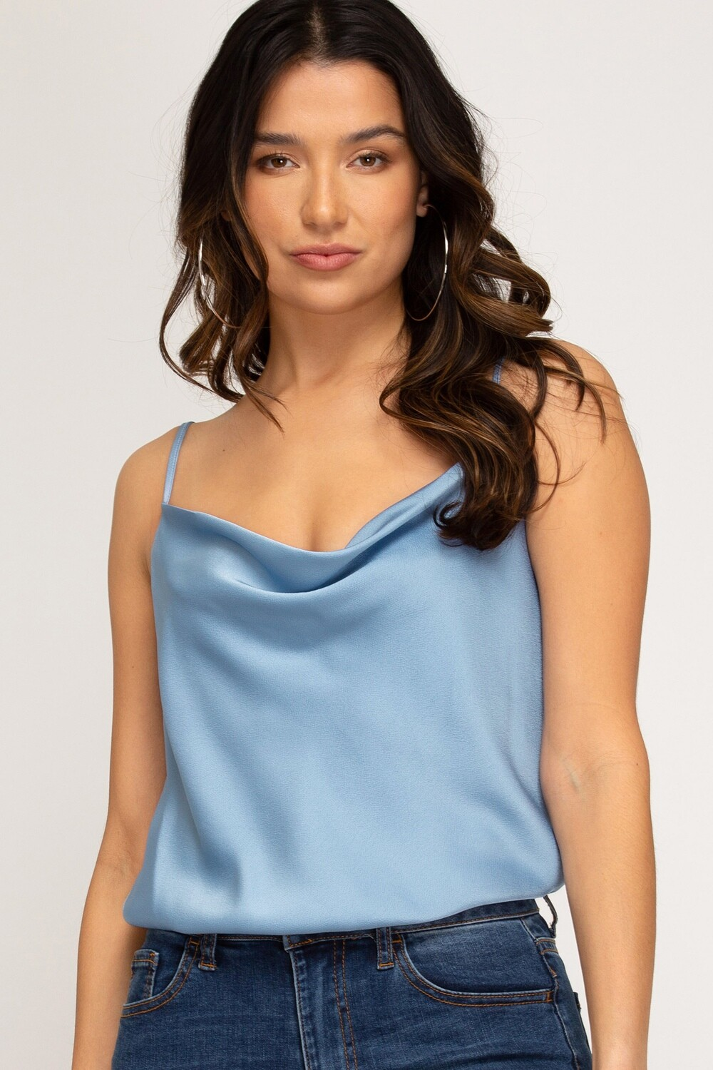 She and Sky: Blue Cami Bodysuit