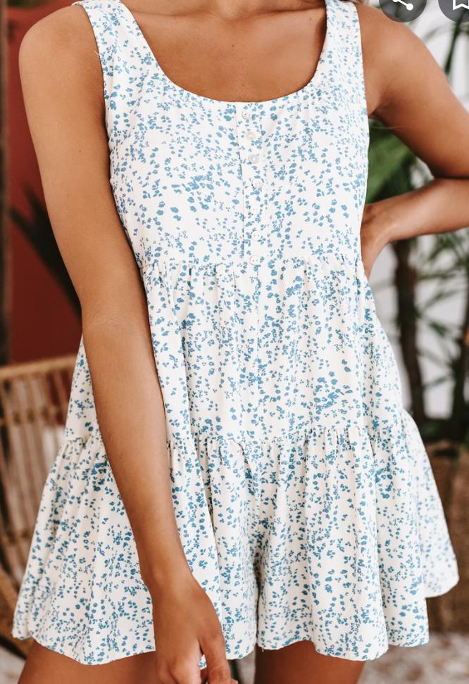 Entro: Floral Ruffle Dress