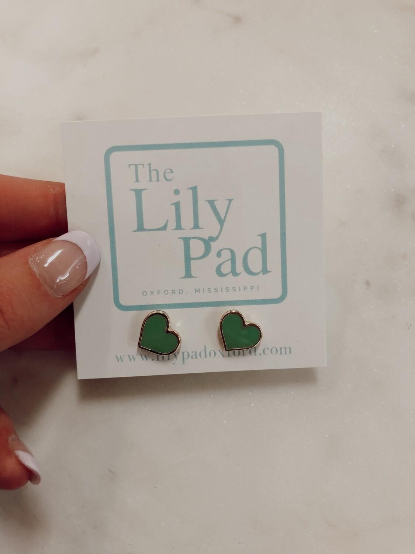 Heart Earring-green