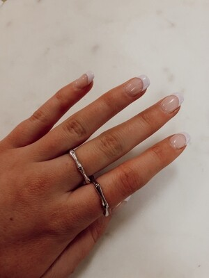 Bamboo Ring: Silver Size 6