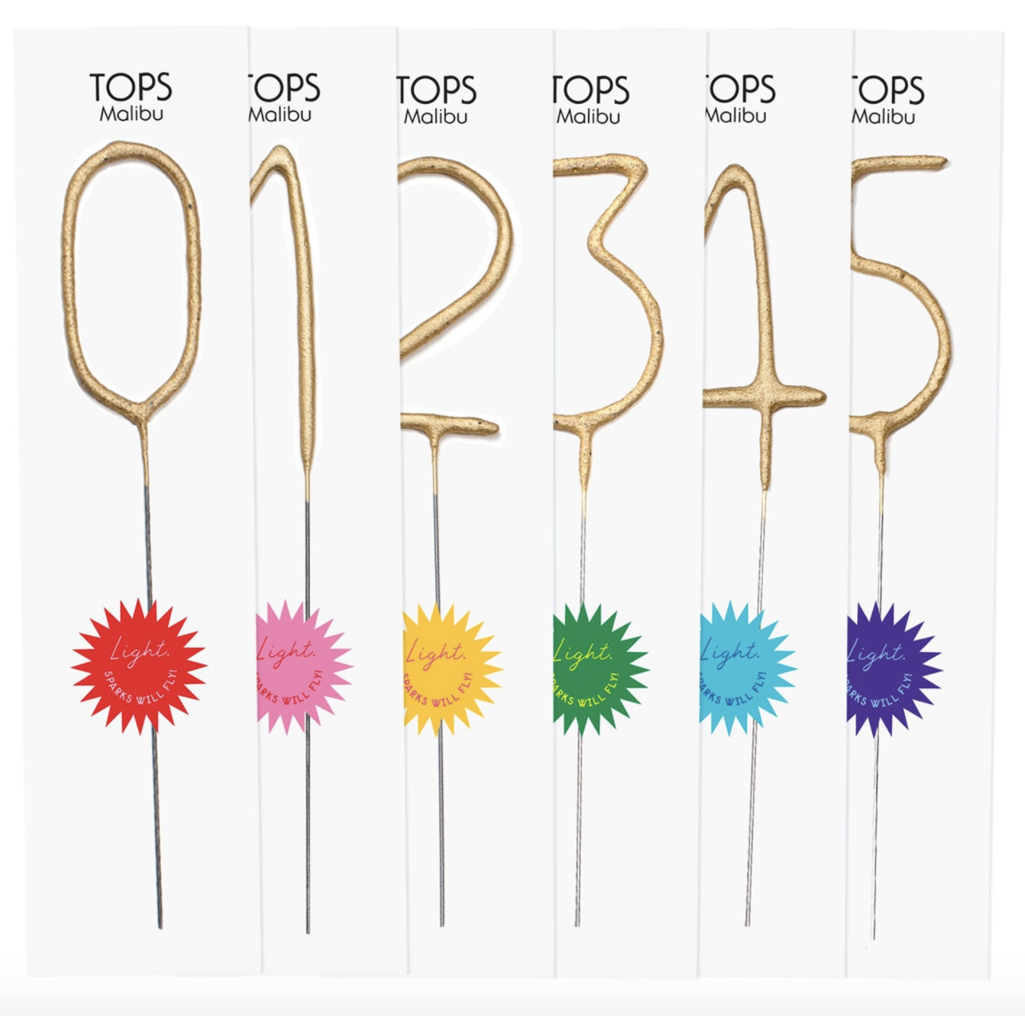 TOPS Malibu: Number Candles