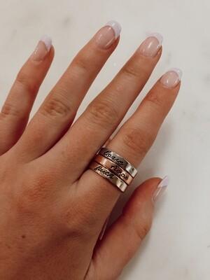 Faith Hope Love Ring: Size 7