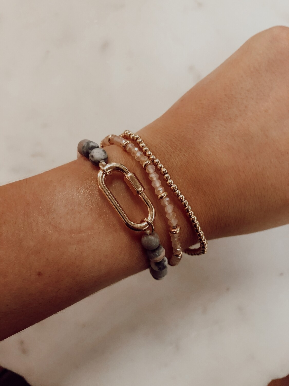 Lock Beaded Bracelet
