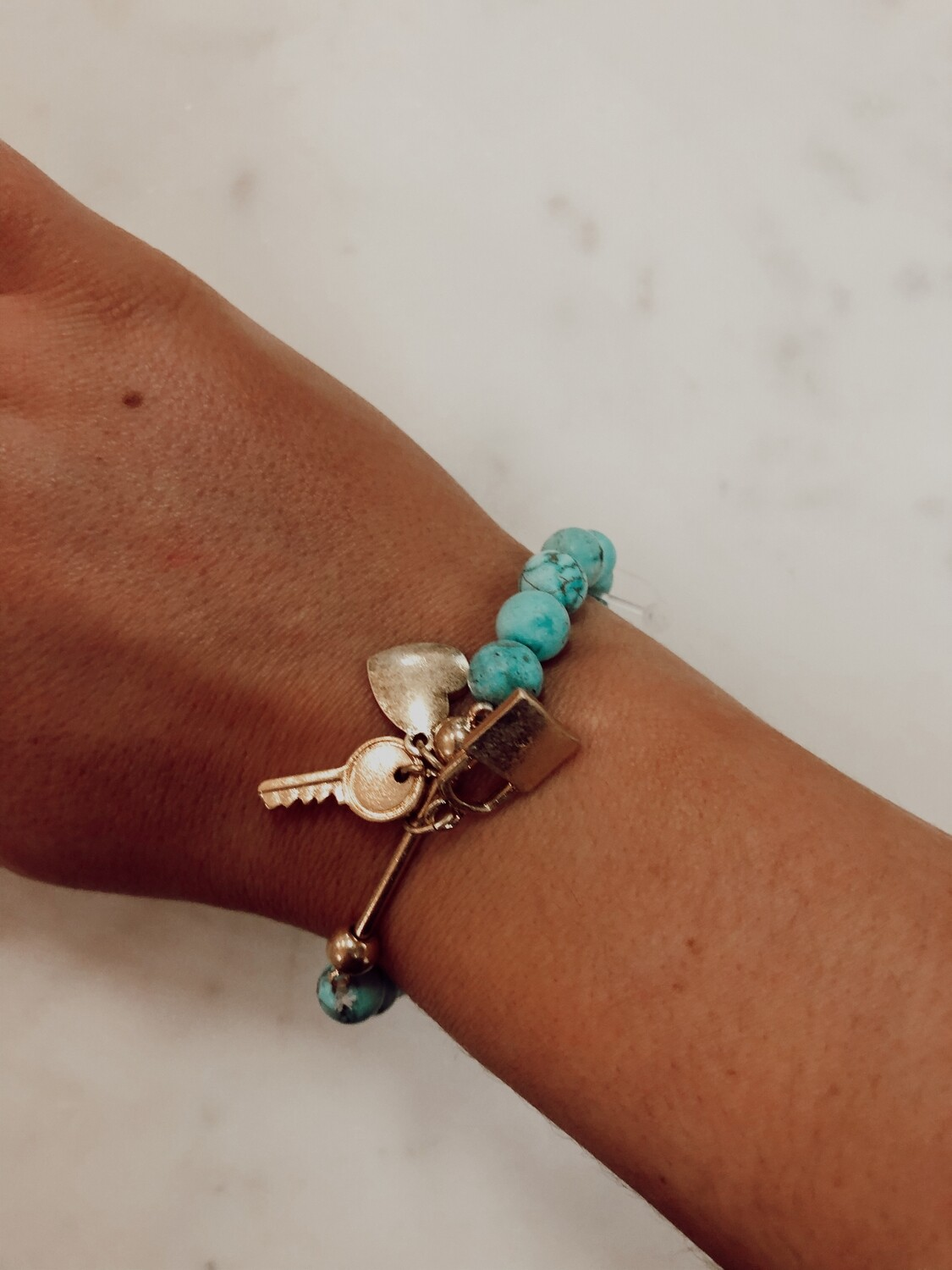 heart key lock bracelet