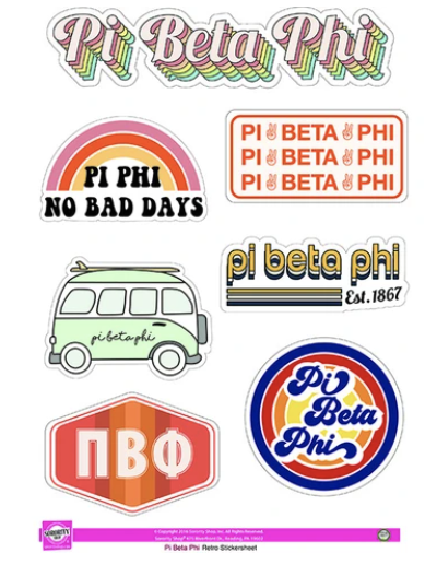 Greek Sticker Sheets