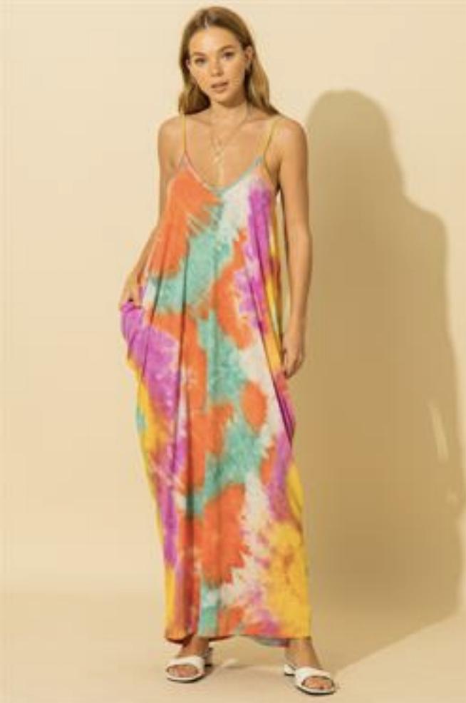 HYFVE: Orange Multicolor Dress