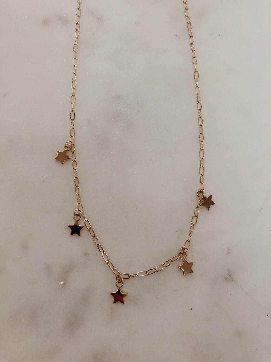 star charm necklace-gold