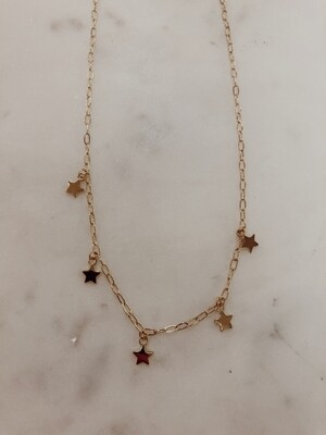 Star Charm Necklace: Gold