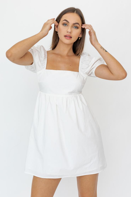 Lelis: White Babydoll Dress