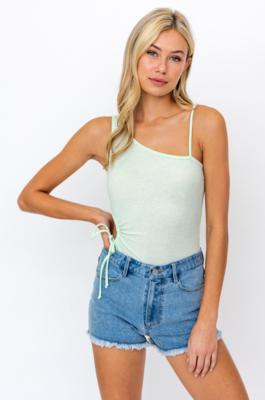 Lelis: One Shoulder Side Cut Out BodySuit