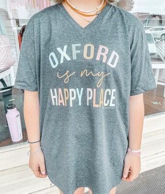 Oxford Is My Happy Place Boyfriend Tee