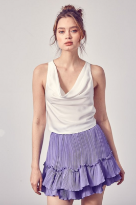 DO+BE: Draped Back Tie Top