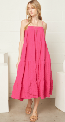 Entro: Tiered Midi Dress