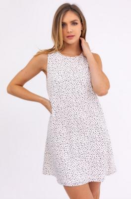 Gilli: Sleeveless Dot Mini Dress