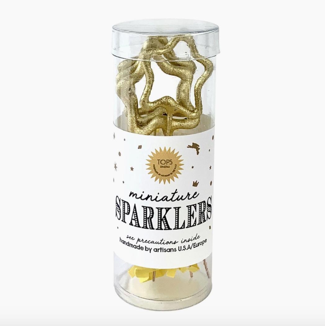 Mini Gold Sparklers Star Tube