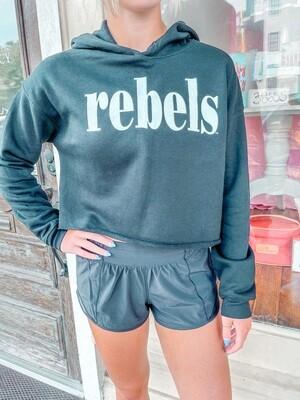 BLACK Rebels Sideline Crop Hoodie