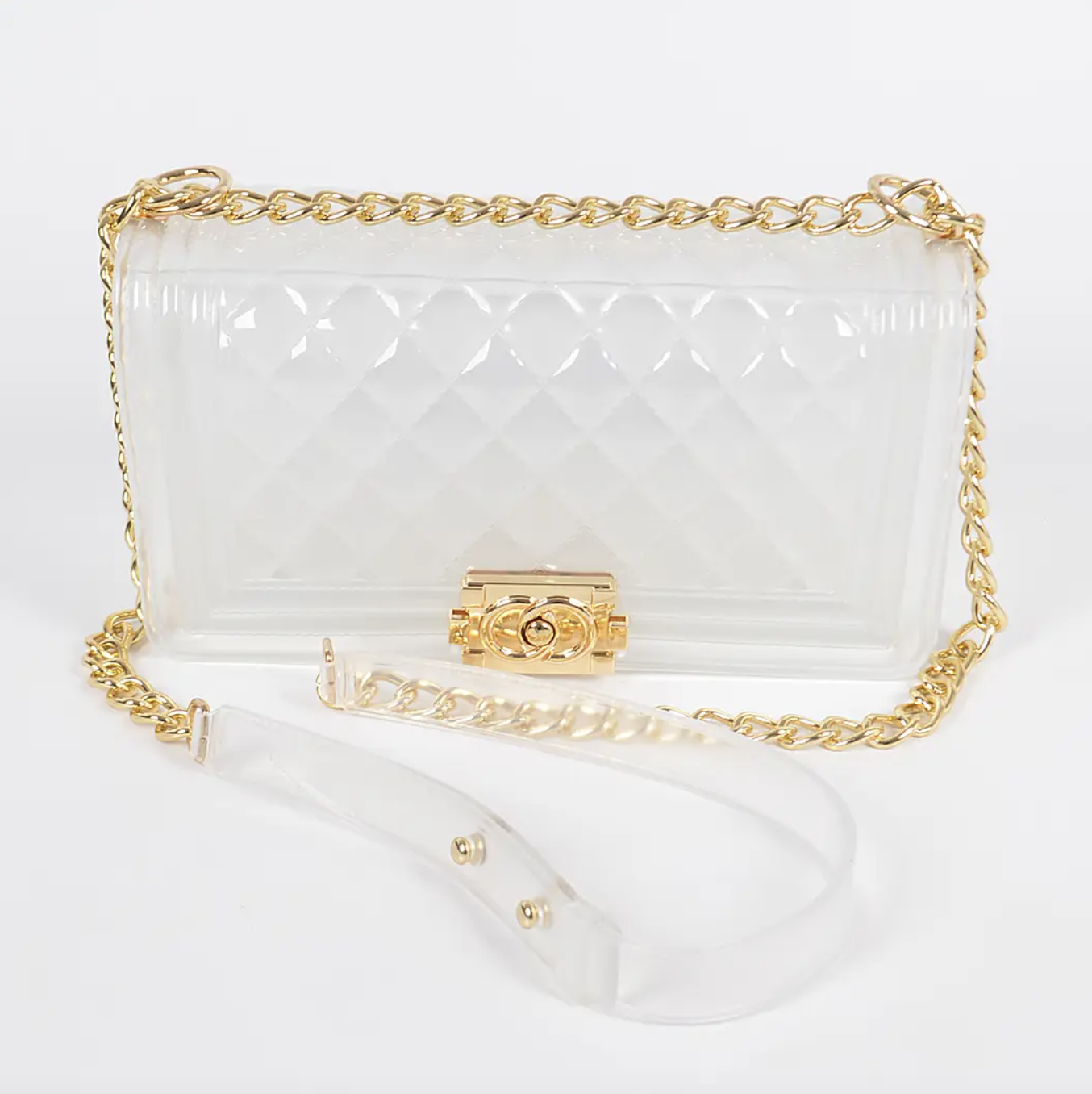 H&D Accessories: Quilted Clear Bag