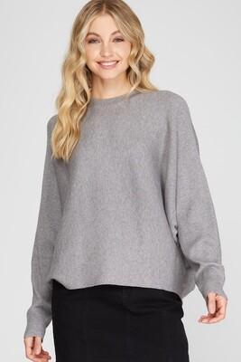 She & Sky: Long Dolman Sleeve Knit Sweater