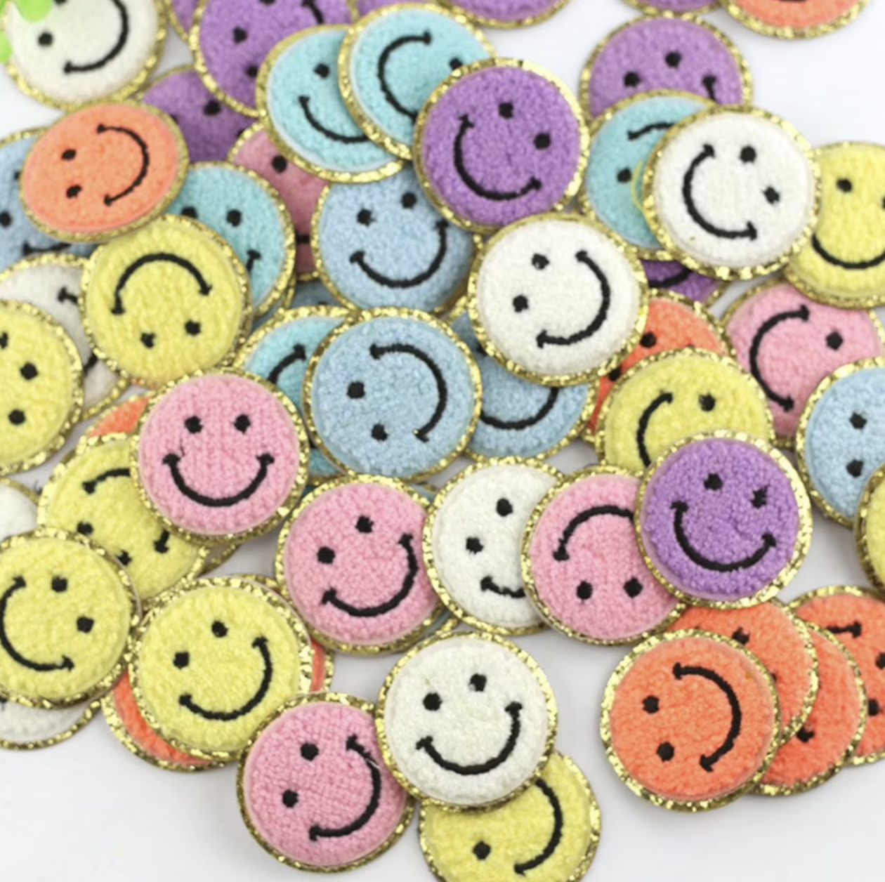 Chenille Smiley Patches