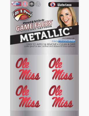 Game Faces: Ole Miss Metallic