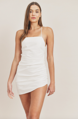 Mable: Solid Open Back Dress