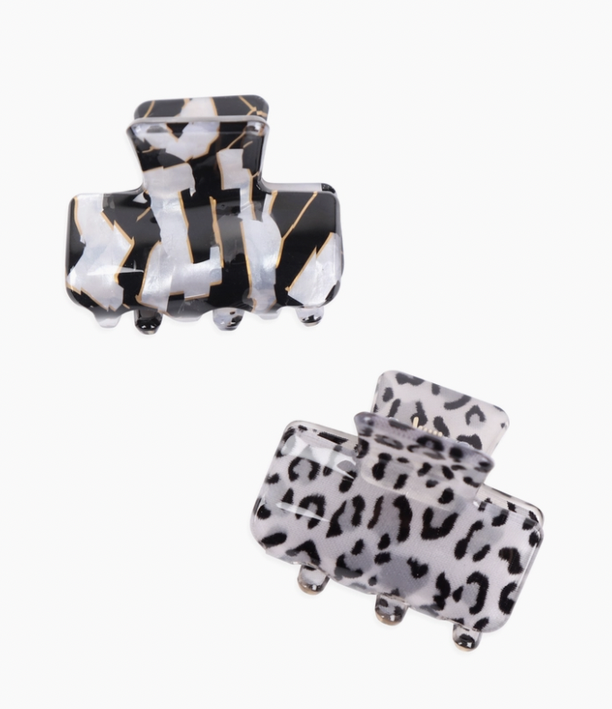 Love & Repeat: Leopard Claw Clip Set