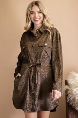 143 Story: Leopard Satin Dress