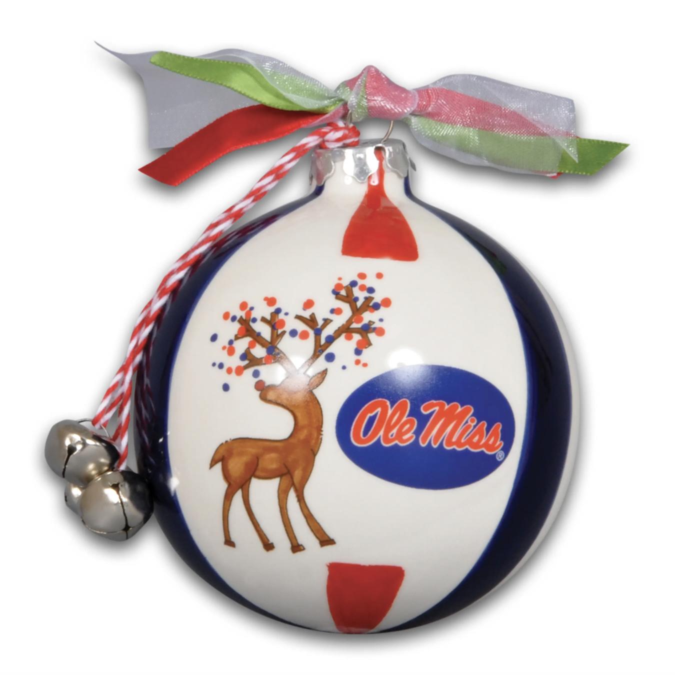 Magnolia Lane: Ole Miss Reindeer Ornament